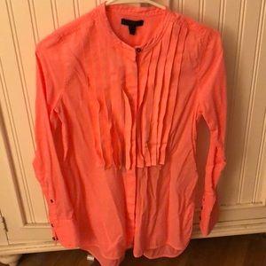 J. Crew Tops - Jcrew button shirt with ruffles.
